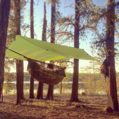 Customer Photo - Outdoorsman Jimmy Mac hangs in his hammock more than most - Especially when Guiding Canoe trips in Northern Saskatchewan.  Go Check out his gorgeous gallery of his travels - (Copy and paste into browser bar. )  https://www.instagram.com/jimmysask  - Also , hit him up if you're ever interested in doing a Canoe trip with some friends in Northern Saskatchewan. He provides everything, and it's on my list of to dos!